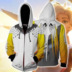 Overwatch Mercy Zipper Hoodie Sweatshirt