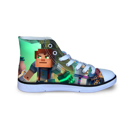 Minecraft Story Mode High Top Vulcanized Canvas Shoes