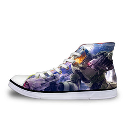 Halo Master Chief High Top Vulcanized Canvas Shoes