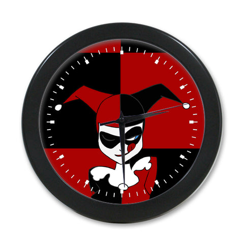 Harley Quinn Animated Puddin Elegant Round Wall Clock