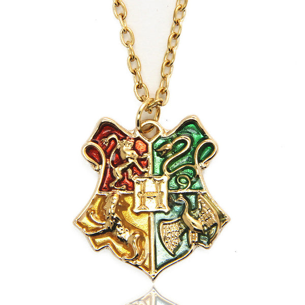 Harry Potter Hogwarts School Crest Pendant Necklace