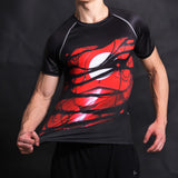 Iron Man Alter Ego Compression Fitted Short Sleeve T-Shirt