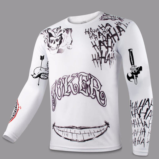 ed47645a22b5 Suicide Squad The Joker Tattoo All-Over Long Sleeve T-Shirt – fancyhouze