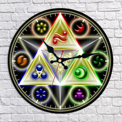 Legend of Zelda Triforce Wall Clock