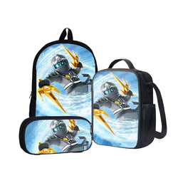 Ninjago Zane Ninja of Ice Back To School Set Pencil Case Bag Backpack