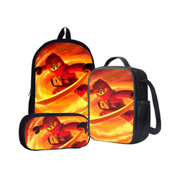 Ninjago Kai Ninja of Fire Back To School Set Pencil Case Bag Backpack