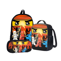 Lego Ninjago Back To School Set Pencil Case Bag Backpack