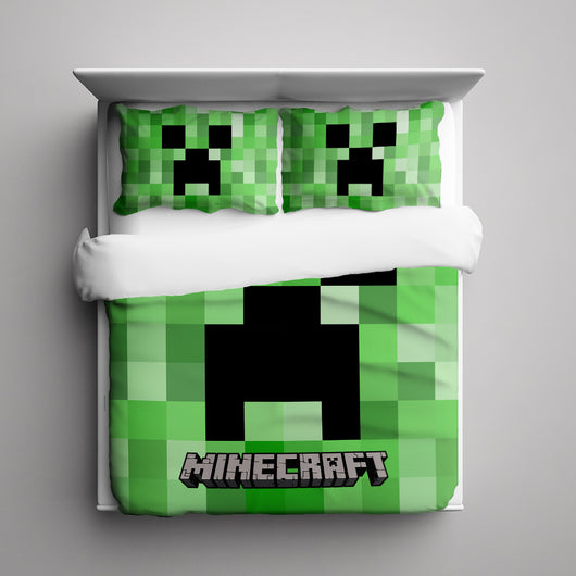 Minecraft Creeper Bedding Set