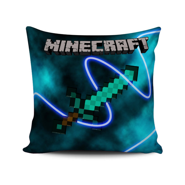 Diamond Sword Minecraft Creeper Cushion/ Pillow Case Cover