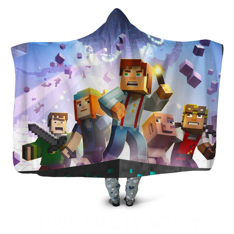 Minecraft Story Mode Hooded Blankets