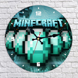 Minecraft Diamond Wall Clock