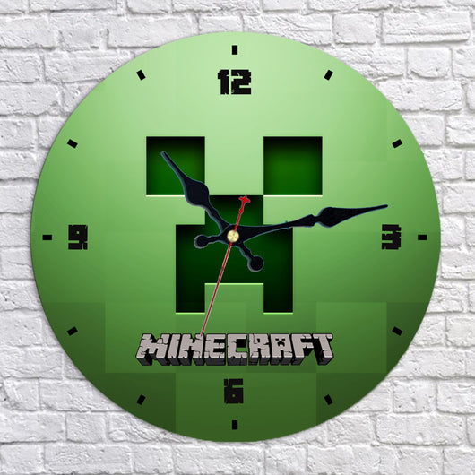 Minecraft Creeper Wall Clock