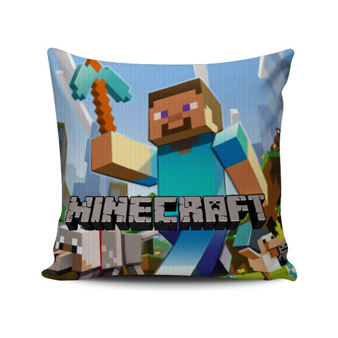 Minecraft Creeper Steve Cushion/ Pillow Case Cover