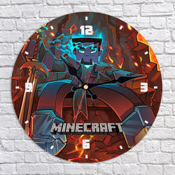 Minecraft King Herobrine Wall Clock
