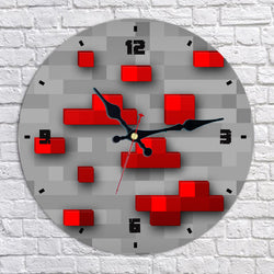 Minecraft Redstone Ore Wall Clock