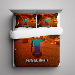 Minecraft Herobrine Bedding Set
