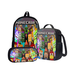 Minecraft Mob Party Back To School Set Pencil Case Bag Backpack
