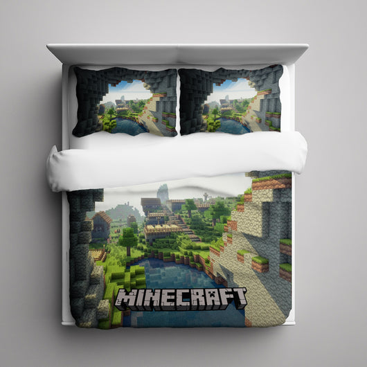 World of Minecraft Bedding Set