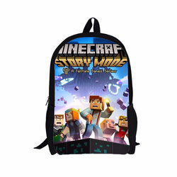 Minecraft Story Mode Back To School Set Pencil Case Bag Backpack