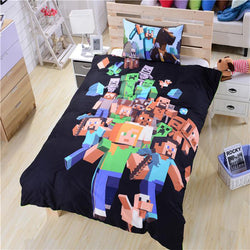 Minecraft Creeper Mobs Bedding Bed Set (Duvet Cover/ Pillow Case)