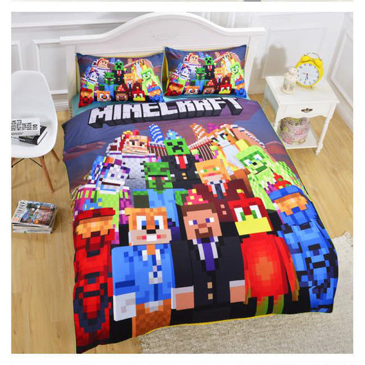 Minecraft Creeper Party Bedding Bed Set (Duvet Cover/ Pillow Case)