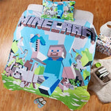 Minecraft Steve Bedding Bed Set (Duvet Cover/ Pillow Case)