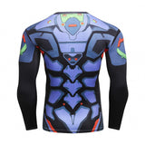 Neon Genesis Evangelion Cyberpunk Compression Fitted Long Sleeve Shirt