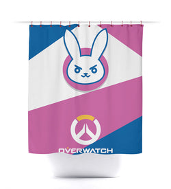 Overwatch D.Va Shower Curtain