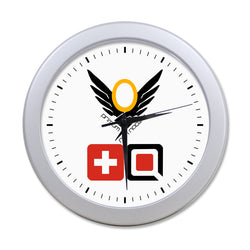 Overwatch Mercy Elegant Round Wall Clock