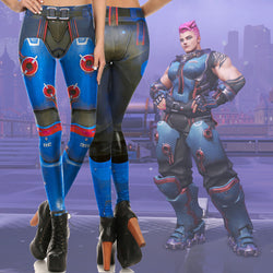 Overwatch Zarya Fitted Long Pants Legging