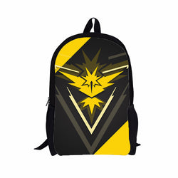 Team Instinct Pokemon Go School Book Bag Backpack