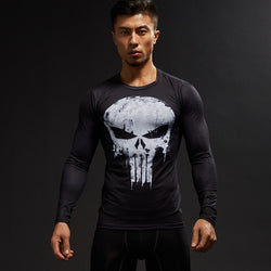 The Punisher Compression Fitted Long Sleeve T-Shirt