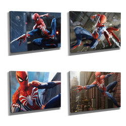 Marvel Spider-Man PS4 Framed Photo Canvas Print