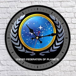 United Federation of Planets UFP Logo Wall Clock