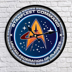 Starfleet Command United Federation of Planets Logo Wall Clock