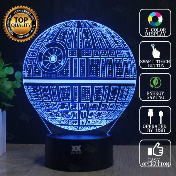 Star Wars 7 Color Changing Night LED Lamp