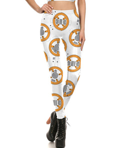 Star Wars BB-8 Droid Fitted Long Pants Legging