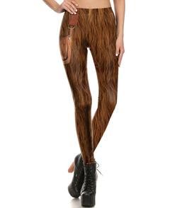 Star Wars Chewie Chewbacca Fitted Long Pants Legging