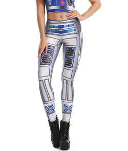 Star Wars R2-D2 Artoo Detoo Droid Fitted Long Pants Legging