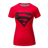 Superman Women's Compression Fitted Short Sleeve T-Shirt