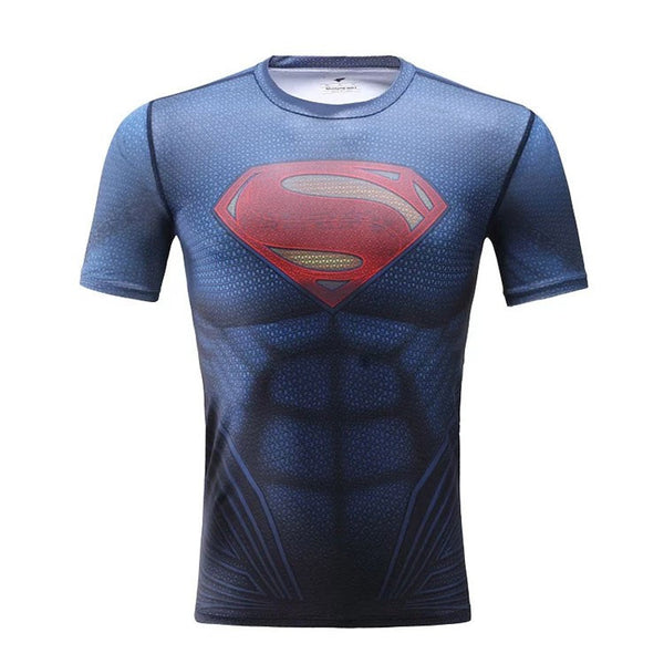 Superman Dawn of Justice Kid's Compression Short Sleeve T-Shirt