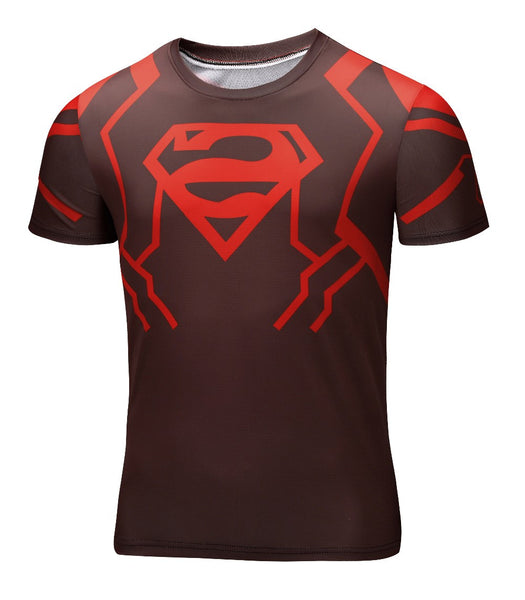 Superboy New 52 Men's Compression Fitted Short Sleeve T-Shirt