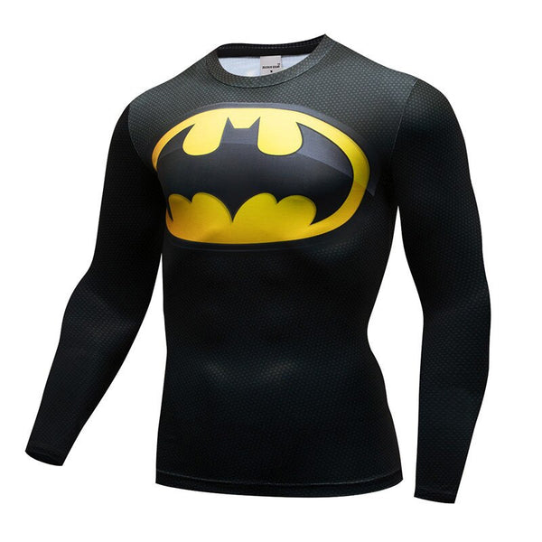 Batman Compression Fitted Long Sleeve T-Shirt