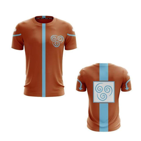 Aang Avatar: The Last Airbender All-Over Short Sleeve T-Shirt