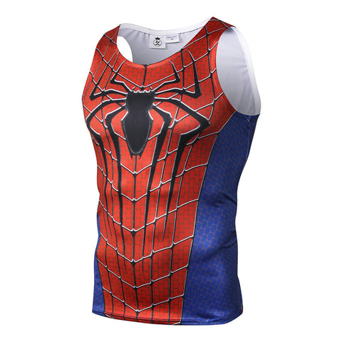 Amazing Spider-Man Fitted Sleeveless T-Shirt Tank Top