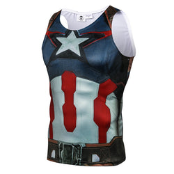 Captain America Age of Ultron Fitted Sleeveless T-Shirt Tank Top