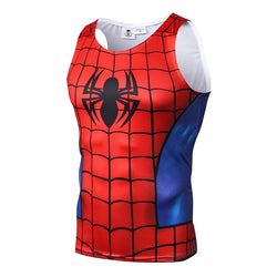 Scarlet Spider-Man Fitted Sleeveless T-Shirt Tank Top