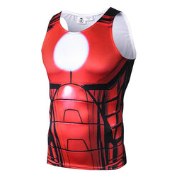 Iron Man Fitted Sleeveless T-Shirt Tank Top