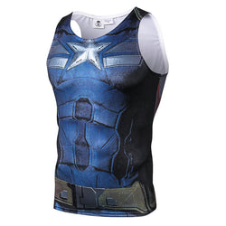 Captain America Stealth Uniform Fitted Sleeveless T-Shirt Tank Top