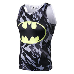 Batman Camouflage Fitted Sleeveless T-Shirt Tank Top